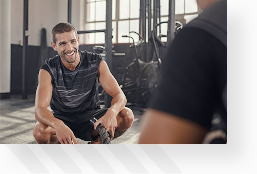 Laughing Man After Workout