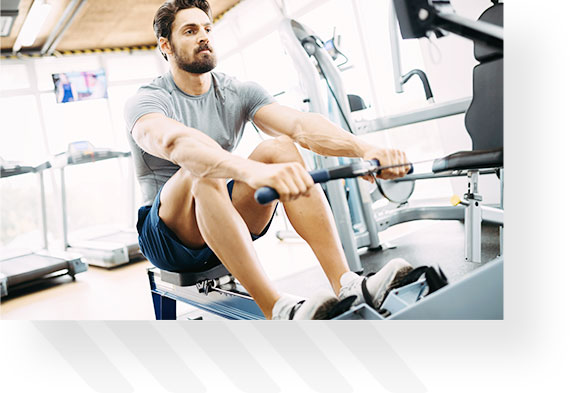 Man Doing Seated Rows