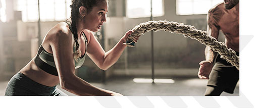 Woman Doing A Rope Workout