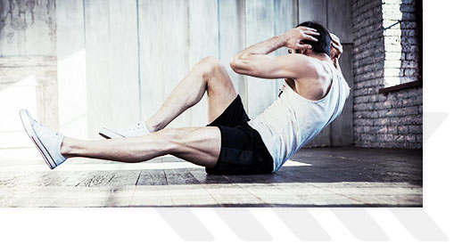 Man Doing Crunches On The Floor